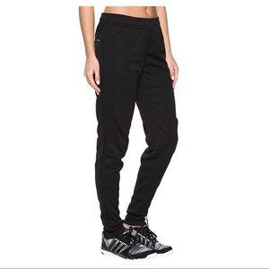 Adidas black on black skinny jogger track pant, S